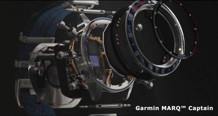 Из чего состоит модель Garmin MARQ Captain