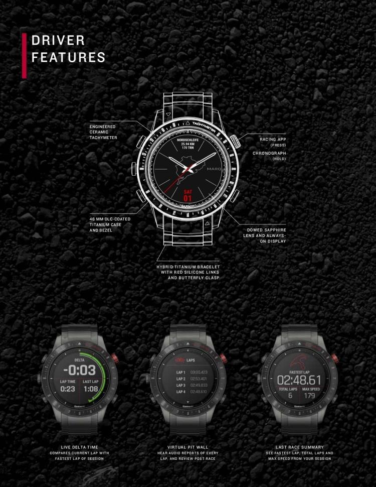 Спецификация часов Garmin MARQ Driver