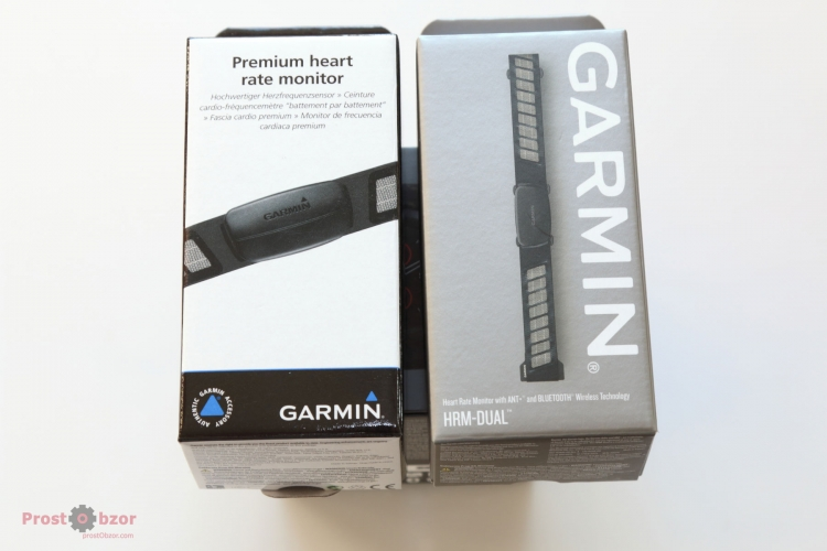 Распаковка нагрудных ремней Garmin HRM Dual , HTM-Premium
