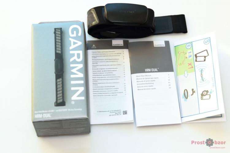 Справочное руководство по работе с Garmin HRM-Dual