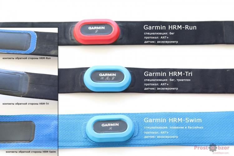 Сравнение нагрудных пульсометров Garmin HRM-Run - Tri - Swim