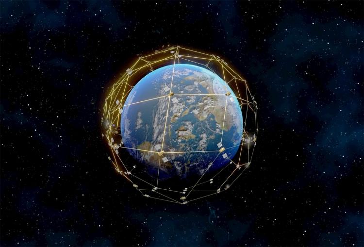 Покрытие спутниковой системы Iridium Next