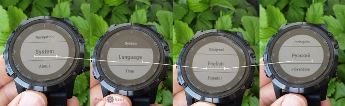 Как выбрать русский язык часов Garmin