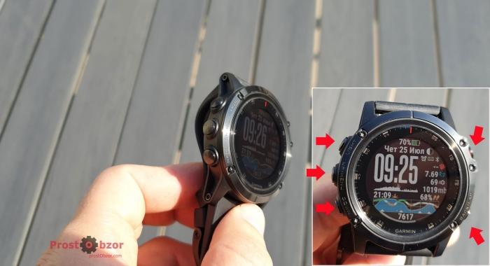 Проверить кнопки часов Garmin Fenix 5 X Plus