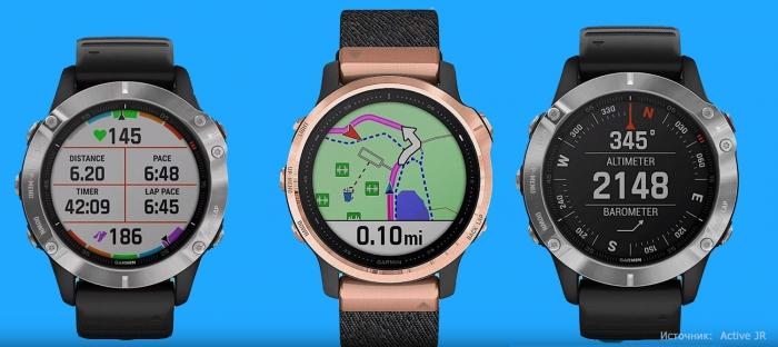 Картография и навигация в часах Garmin Fenix 6