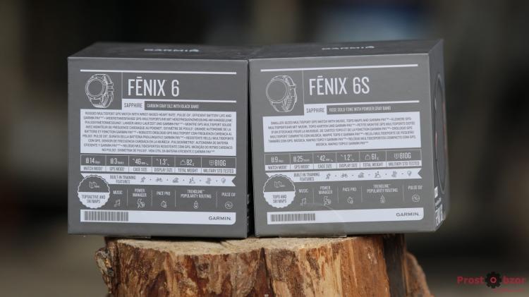 Распаковка часов Garmin Fenix 6 - 6S - спецификация
