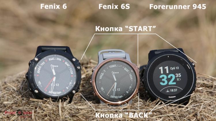 Кнопки часов Garmin Fenix 6 - 6S