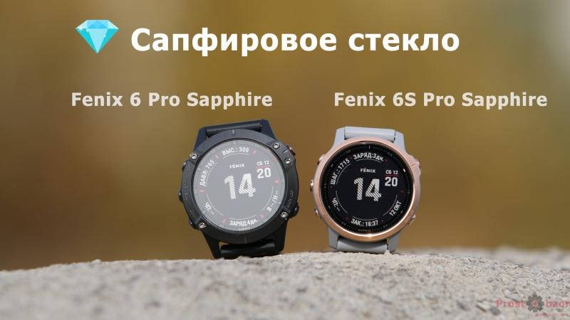 Сапфировое стекло часов Garmin Fenix 6 - 6S