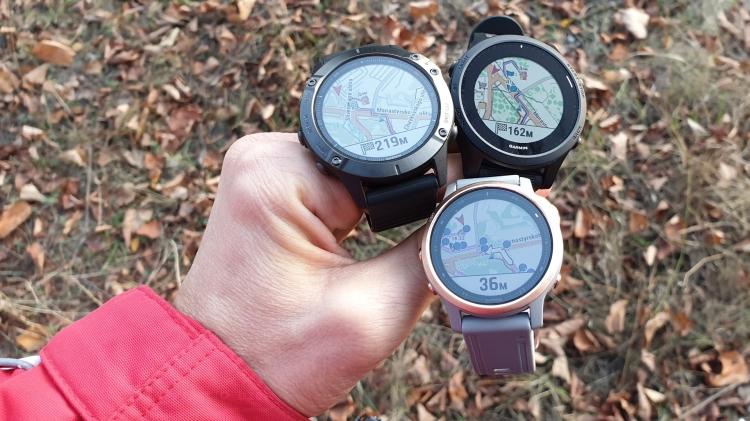 Картография и навигация в часах Fenix 6 - Forerunner 945