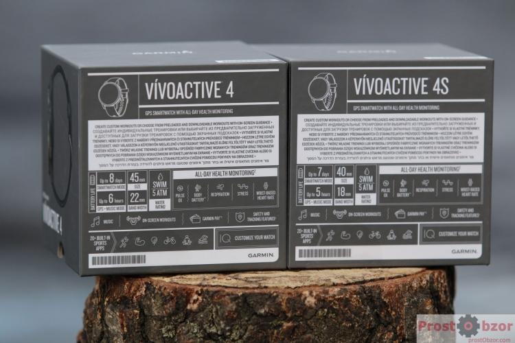 Распаковка - комплектация часов Garmin Vivoactive 4, 4S
