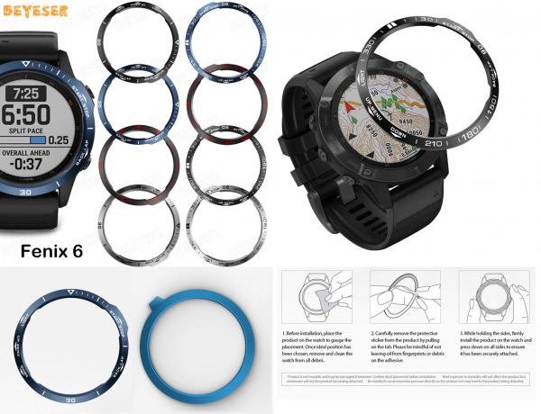 Защитное кольцо безеля часов Garmin Fenix 6