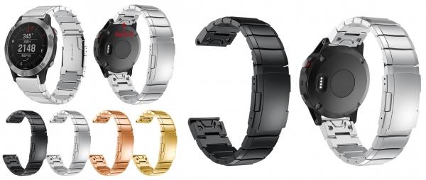 Металлический браслет с системой EasyFit ( аналог QuickFit ) для часов Garmin Fenix 6- 6S - 6X