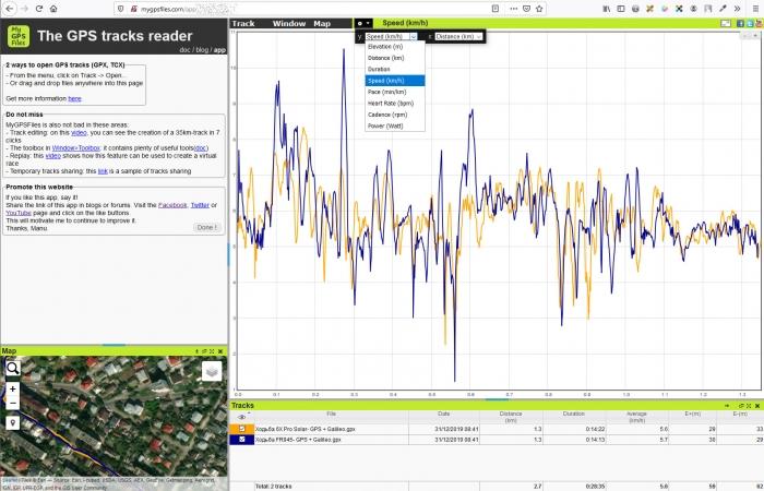 Сравнение GPS треков в Веб-сервисе mygpsfile - шаг 5