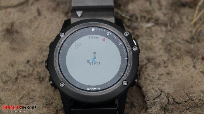 Карта маршрута GPS в часах Fenix 3