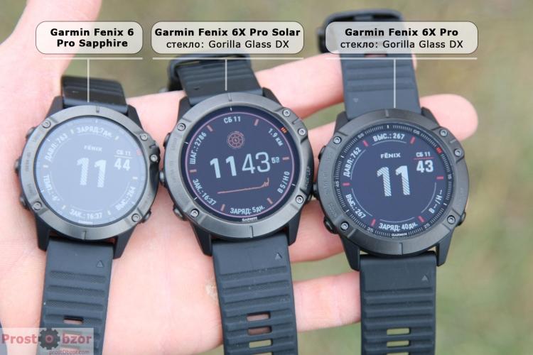 Сравнение стекла Sapphire и Corning Gorilla Glass DX для Fenix 6 - 6X