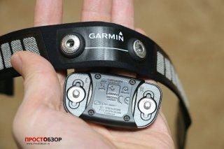Garmin HRM-RUN  - площадка измерения данных - вид с обратной стороны