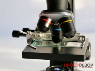 Увеличение в 40 раз - Предметная площадка микроскопа Bresser Biolux LCD 40x-1600x