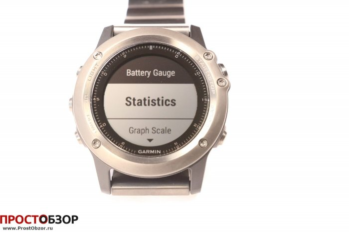 Garmin Fenix 3 - виджет Battery Gauge статистика