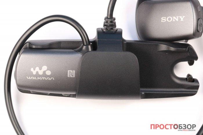 Как устанавливать плеер Sony Walkman NWZ-WS613 на зарядку