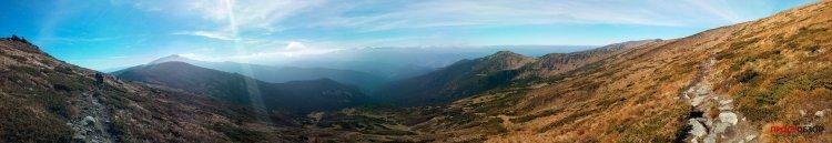 Пример панорамы - горы Карпаты