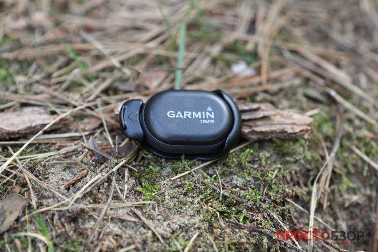 Датчик температуры Garmin Tempe в лесу