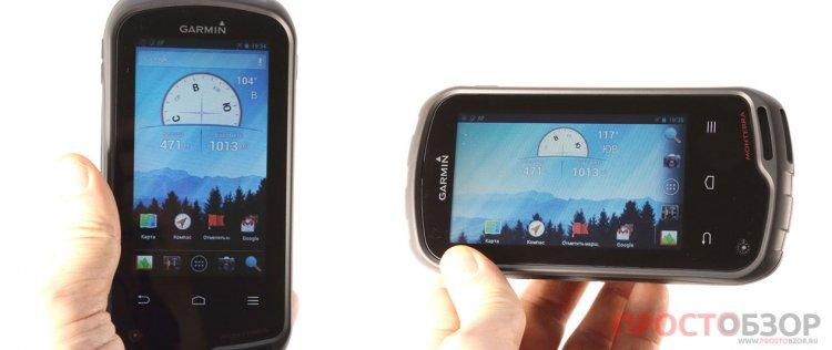Garmin Monterra - ориентация экрана прибора