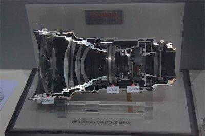 Поперечное сечение объектива Canon