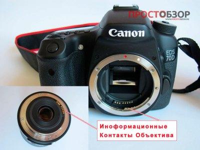 Места крепления объектива canon18-135mm is stm kit