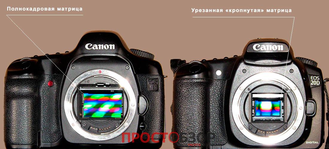 что означает полнокадровый фотоаппарат уже