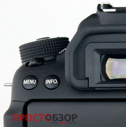 Внешний вид видоискателя камеры