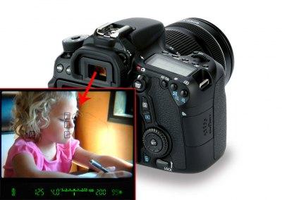Как показывается информация в середине камеры