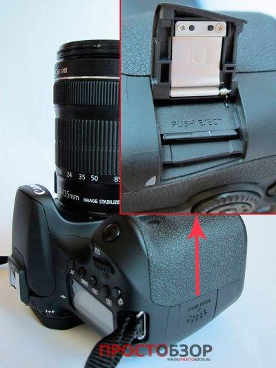 Слот установки SD карты для камеры Canon EOS 70D