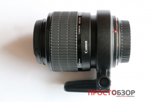 Макро-объктив Canon MP-E 65mm f-2.8 1-5x Macro в сложенном виде