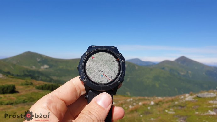 Навигация и треки в часах Garmin Fenix 6X Pro Solar в горах