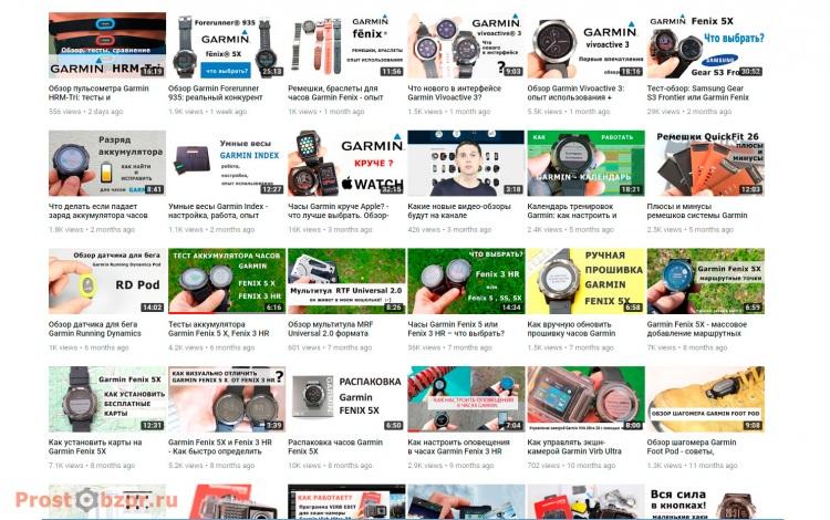 Все обзоры техники Garmin на сайте ProstObzor.com за 2017 год
