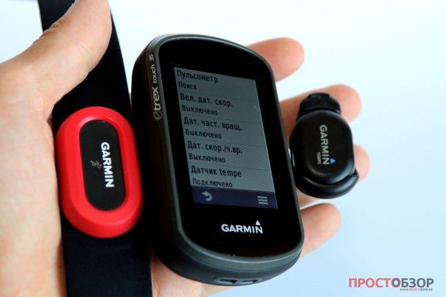 Внешние ANT+ датчики подключенные к  Garmin Etrex Touch 35