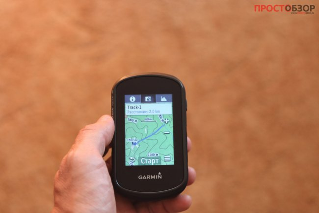 Как выглядет загруження трек на GPS навигаторе Garmin Etrex Touch 35