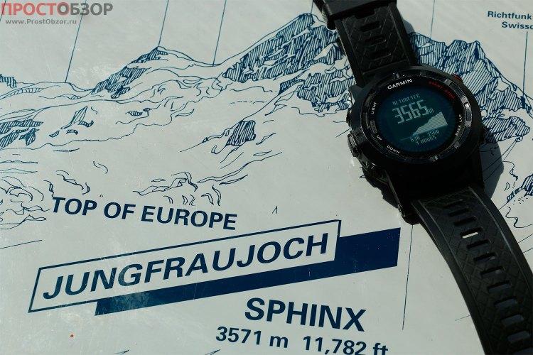 Расхождение высот в часах Fenix 2 и горной вершины Юнгфрау, Швейцария