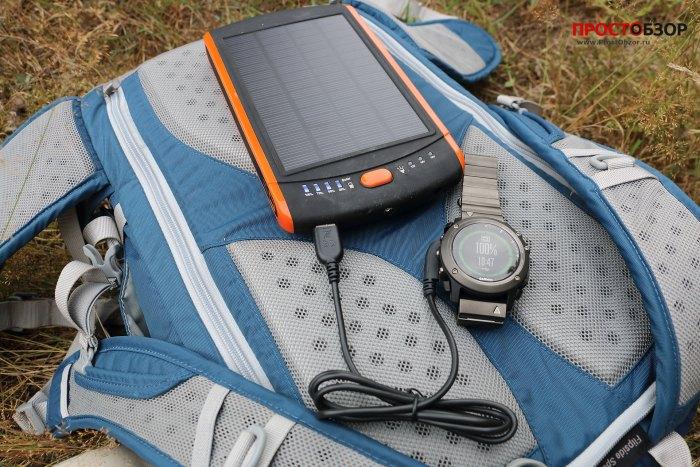 Fenix 3 в походе - на рюкзаке