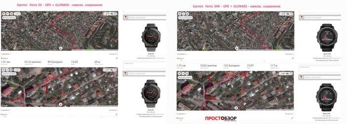 Качество записи GPS треков на густо застроенных районах  - Garmin Fenix 5X - Fenix 3 HR