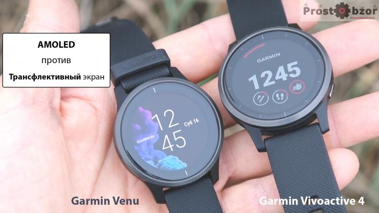 часы Garmin Venu с Амулед дисплеем