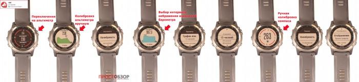 АВС Компас от Garmin - управление и настройки через кнопки в Garmin Fenix 3 HR