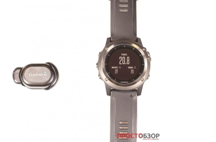 Виджет измерения температуры с помощью Garmin Tempe и часов Fenix 3 HR