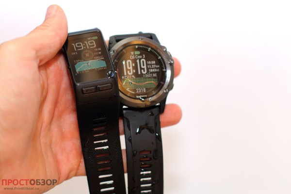 Класс водонепроницаемости часов Garmin Fenix 3 HR, Vivoactive HR