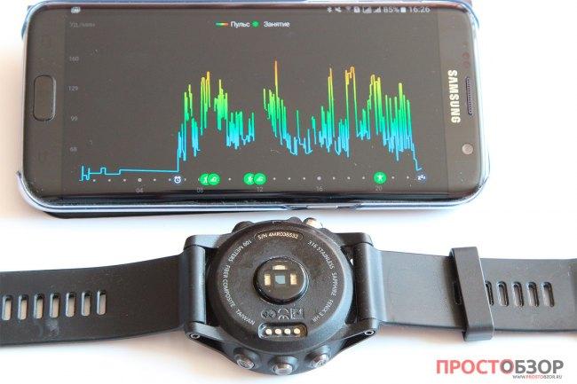 Данные пульса за сутки в мобильном приложении Garmin Connect Mobile
