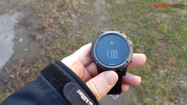 Оповещения по дистанции для ходьбы и походов в часах Garmin Fenix 3 HR