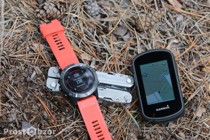 часы Garmin fenix 5x и GPS навигатор Garmin Etrex Touch 35