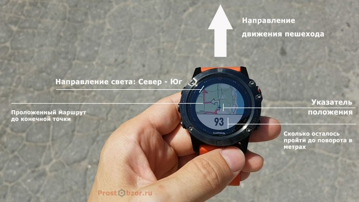 Настройки - направление и ориентация навигации по маршруту