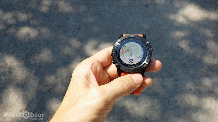 Пример трека в часах при прокладке маршрута