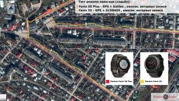Тест 1 - GPS + Galileo VS GPS + GLONASS - прогулка